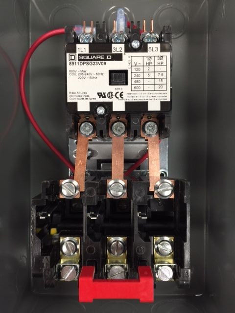 Square D Air  pressor Mag ic Starter Hp Three Phase Volt on 3 phase magnetic starter wiring diagram